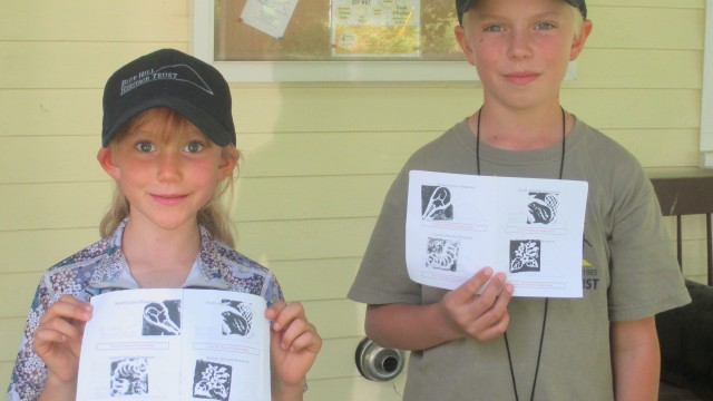 Alpine & Orion Griffin completed their passports this summer and were the first to claim the special prizes for BHHT explorers.