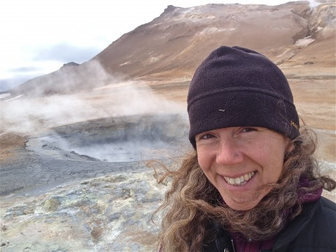 Sarah at the Hverir geothermal field in northern Iceland